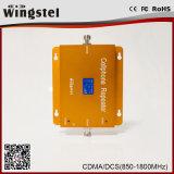 De alta calidad de banda dual 3G 4G CDMA / Dcs de señal móvil Booster con LCD