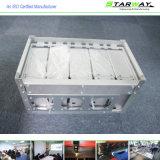 Peça de metal da alta qualidade da peça da fabricação da soldadura do suporte isolador