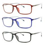 Het recentste Nieuwe Optische Frame van het Oogglas Eyewear van Ultem van het Ontwerp Plastic met Slank Roestvrij staal 7301