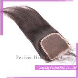 Fermeture bon marché de cheveu d'armure malaisienne de cheveu (3.5*4)