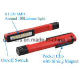 Зажим работы карманн света работы пер 6 SMD СИД светлый вращая магнитный