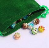安い緑のビロードの袋の宝石類のギフトの袋