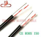 18 cabo do áudio do conetor de cabo de uma comunicação de cabo dos dados do cabo do fio/computador de gota do cabo 2c Calibre de diâmetro de fios