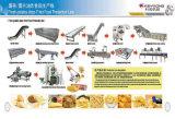 Continuamente microplaquetas de batata inteiramente automáticas que fritam a máquina