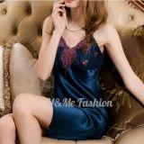 Девушки платья пижамы выскальзования Ecoach Китая пижамы Silk сексуальной сексуальные Silk