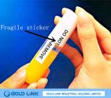 Utilisation de papier fragile de Sitcker pour l'étiquette d'impression