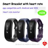 Bracelet sec de vente chaud de qualité avec le moniteur du rythme cardiaque (H28)