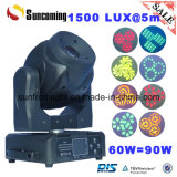 高いBrightness 1500lux@5m Clear Edge LED Moving Head Spot