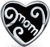 De Parel van het Hart van Mum past in de Armband van de Charme