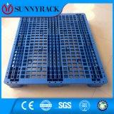 De enige Zij Blauwe Pallet van de Lading van het Rek van de Kleur 1000kg Maagdelijke Materiële Plastic