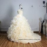 Vestido de casamento real nupcial A201798 das fotos dos vestidos de esfera de Organza