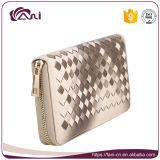 Бумажники конструктора кожаный для женщин, типа застежка-молнии бумажников муфты PU