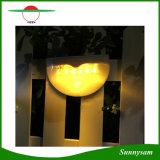 Lampe de muret de détecteur de mouvement de 6 PCS DEL en dehors de lumière solaire de creux de la jante de frontière de sécurité d'éclairage