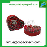 Contenitore di regalo personalizzato fiore romantico del documento di favore di Cuore-Figura di alta qualità