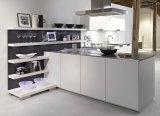 白いラッカー高い光沢のある食器棚