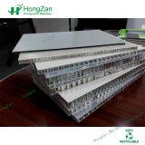 Panneau en aluminium de nid d'abeilles d'épreuve de l'eau pour le compartiment de toilette d'hôtel