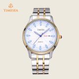 Presente análogo 72367 do relógio de pulso do relógio de quartzo do indicador de aço dos homens