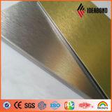 Горячее золото сбывания 2017 и почищенная щеткой серебром алюминиевая составная панель
