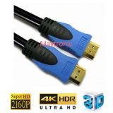 Cable a granel plateado oro de la alta calidad 1.4V HDMI para la TVAD