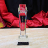 Récompenses en cristal de trophée d'espace libre chaud fait sur commande de vente pour des cadeaux d'affaires