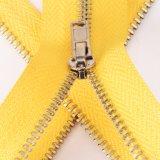 Zipper #3 de bronze chapeado de prata para o revestimento