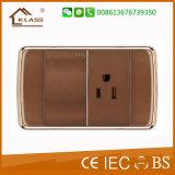 Commutateur de mur de pouvoir de carte de garniture intérieure de peinture de Brown de PC