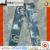 Tejido de impresión Jeans y algodón puro Transferencia en frío de tela