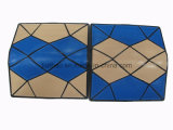 Patchwork Effect simple Shape Card Wallet/Contrst Color Wallet