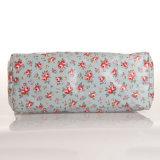 Blumenmuster blaue wasserdichte Belüftung-Reißverschluss-Segeltuch-Handtasche (99089)