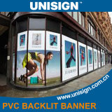 Rectángulo ligero que hace publicidad de la película puesta a contraluz impresión ULTRAVIOLETA