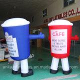 Taza azul barato inflable modificada para requisitos particulares del diseño para la venta de la promoción