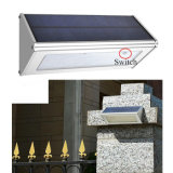 La pared solar enciende las lámparas ahorros de energía impermeables al aire libre de la lámpara del sensor de radar de microonda de la aleación de aluminio 48 LED para el jardín