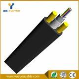 Tipo plano 12 cable óptico unimodal ADSS del miembro de fuerza de FRP de fibra de las memorias