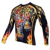 Холодная маячя куртка спортов тигра покрывает втулка Breathable быстро сухое задействуя Jerseyl людей длинняя