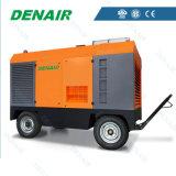 Compresores de aire accionados por el motor diesel móviles/portables/movibles al por mayor del tornillo