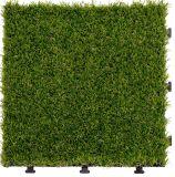 Легко установите/плитка съемного искусственного пола сада травы декоративная