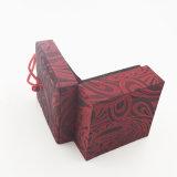 Упаковки PU бархата Flip коробка верхней кожаный пластичная для ювелирных изделий (J94-CX)