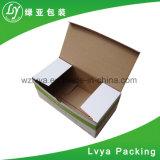 La aduana imprimió los rectángulos de envío de empaquetado acanalados encerados de las cajas de cartón