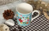 花デザインの卸し売り12oz創造的なデザイン磁器のコーヒー・マグ