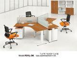 Do trevo modular do grau 3 da mobília de escritório estação de trabalho moderna à moda 120 (FOH-TRI-03)