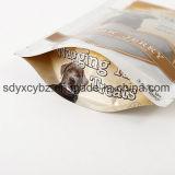 El alimento de animal doméstico coloca las bolsas de plástico para arriba de empaquetado con la cremallera/el bolso que se puede volver a sellar para el alimento de perro
