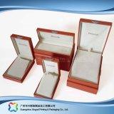 A caixa de empacotamento de madeira do indicador do relógio/jóia/presente do cartão ajustou-se (xc-hbj-033)