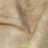 中国の卸し売り高品質の織物の靴材料PU形式の革
