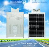 Lâmpada ao ar livre toda em uma luz de rua solar de iluminação com painel solar