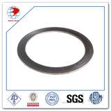 Junta de 1 pulgada, 300lb RF 4.5 milímetro THK, grafito espiral de la herida de AISI 316 con el anillo externo, AISI B16.33