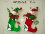 """13 """"H Elf medias de Navidad con signo y regalo, 2 Asst"""