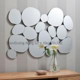 6mm Polieraluminiumblatt-runder abgeschrägter Glasspiegel, dekorativer Wand-Spiegel