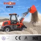 Everun Er16 chargeur de roue de bonne qualité de 1.6 tonne mini avec du ce