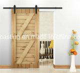 Porte en bois de porte coulissante noire (LS-SDU-07)