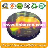 Круглая коробка олова печенья с качеством еды, контейнером олова печенья